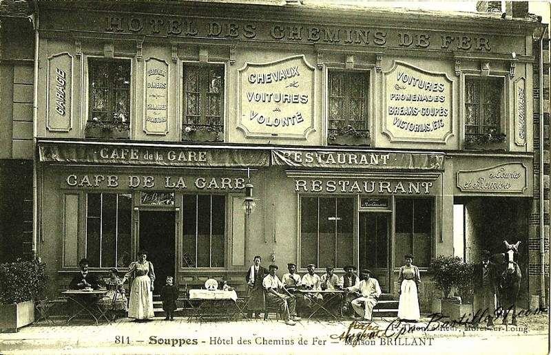 CP hotel des chemins de fer à Souppes