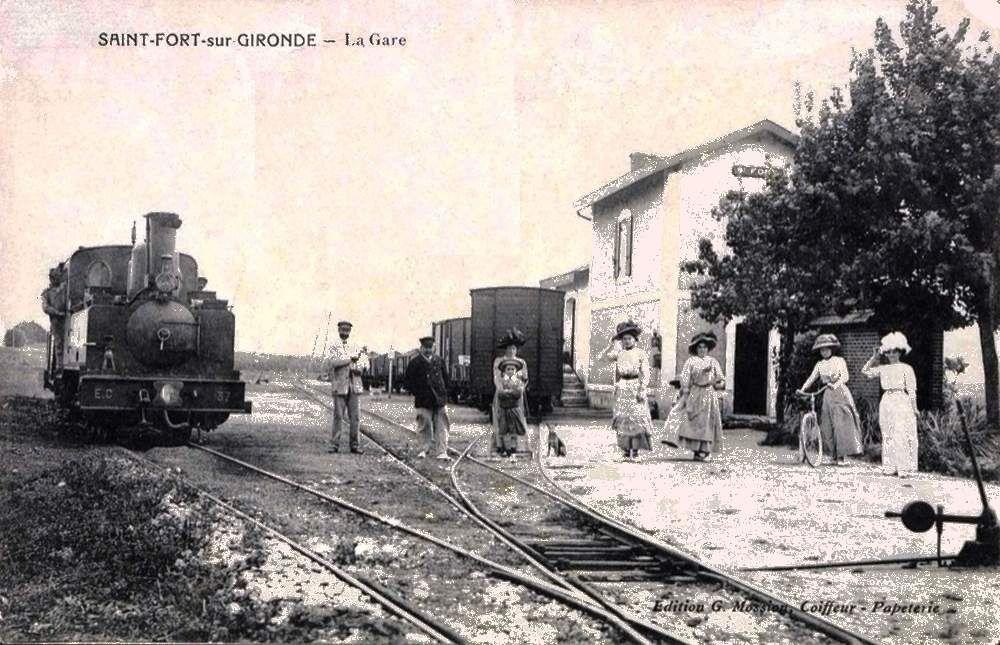 CP gare de St Fort sur Gironde (coté voies)