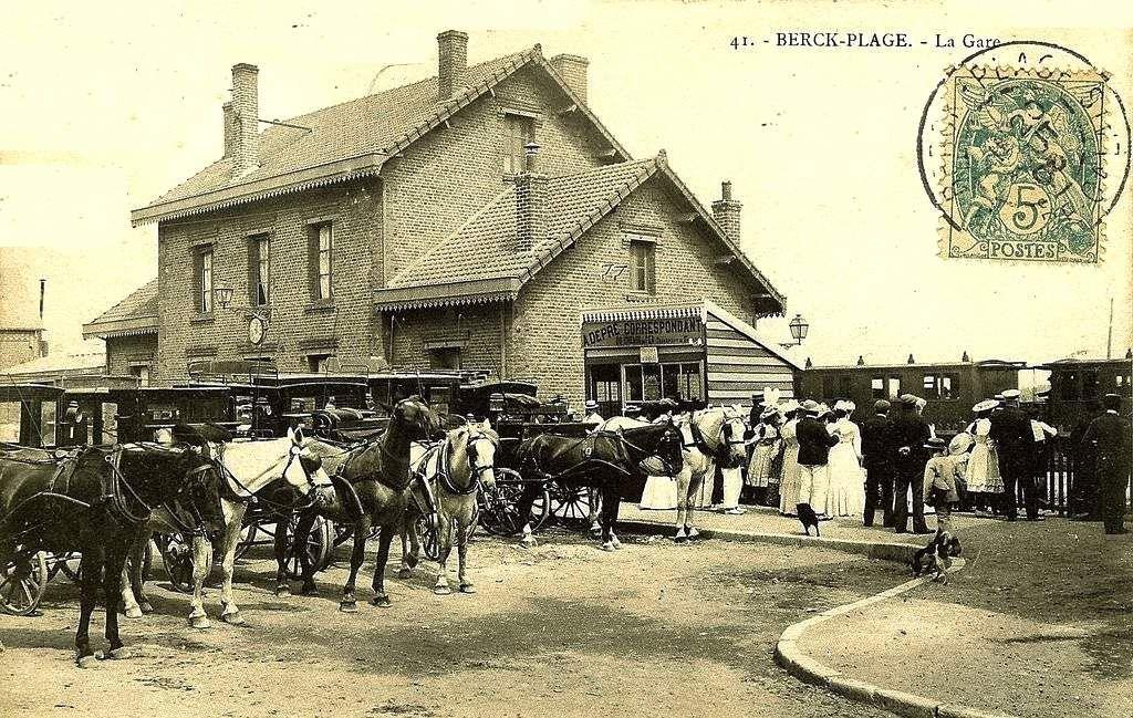 CP gare de Berck (coté cour)