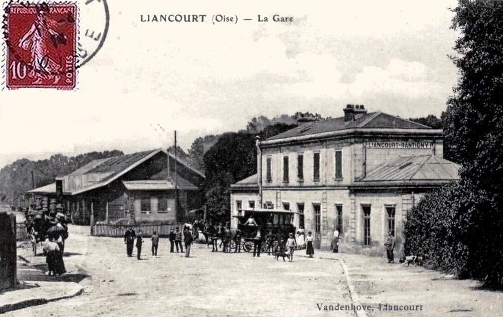 CP gare de  Liancourt-Rantigny (60)