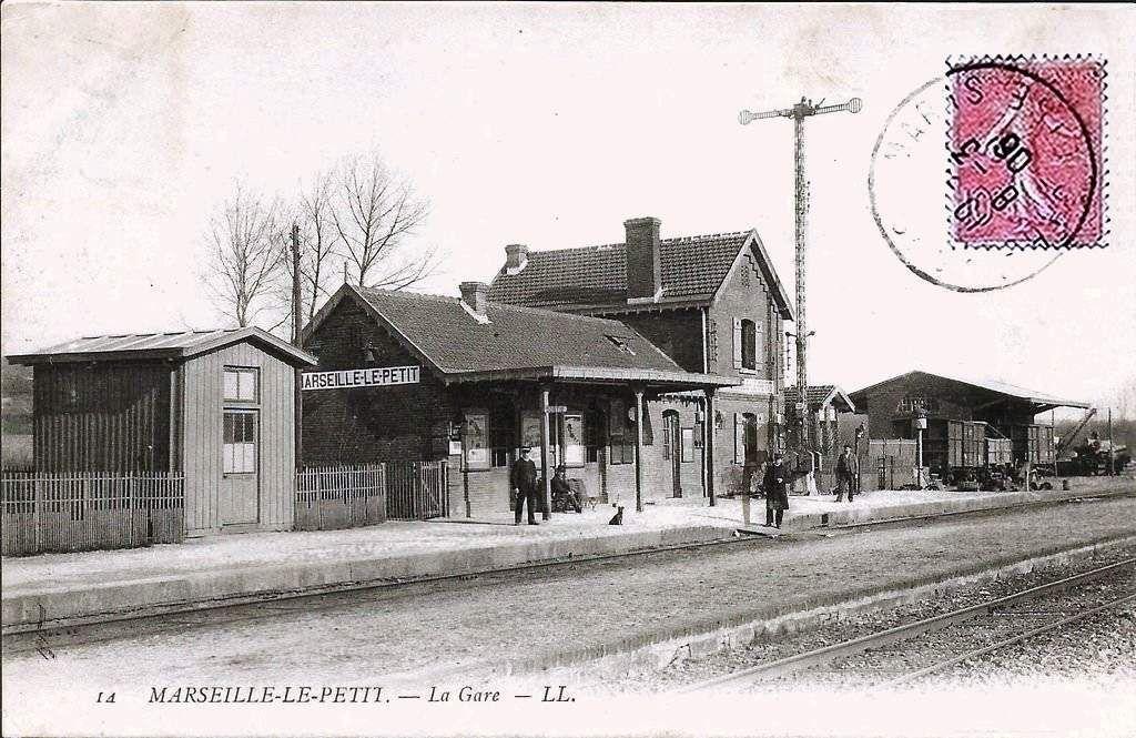 CP gare de Marseille en Beauvaisis (60)