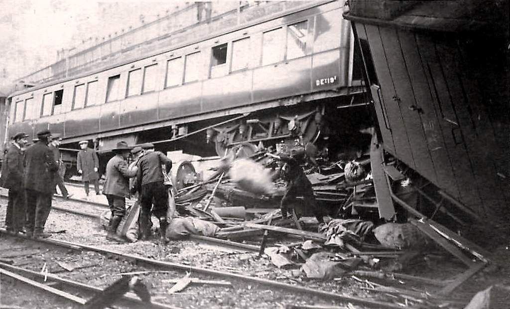 CP Accident férroviaire Amiens 13 aout 1925