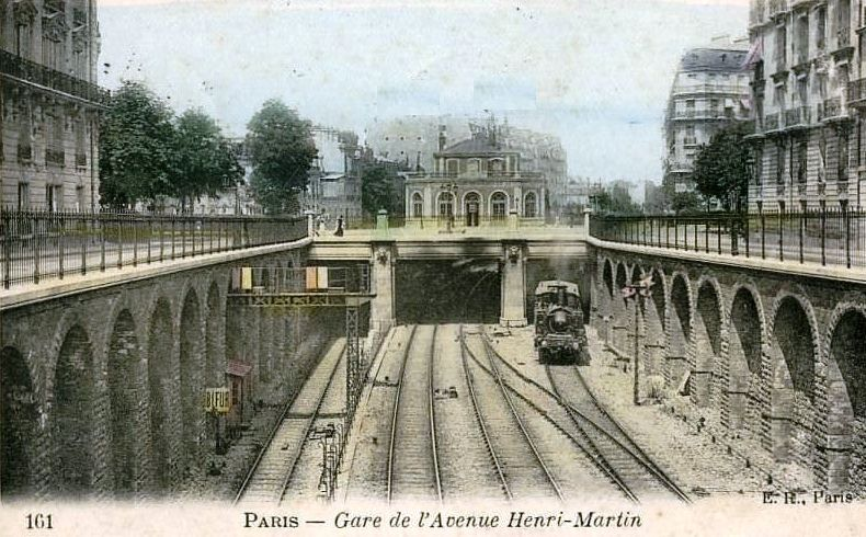 CP petite ceinture station Henri Martin