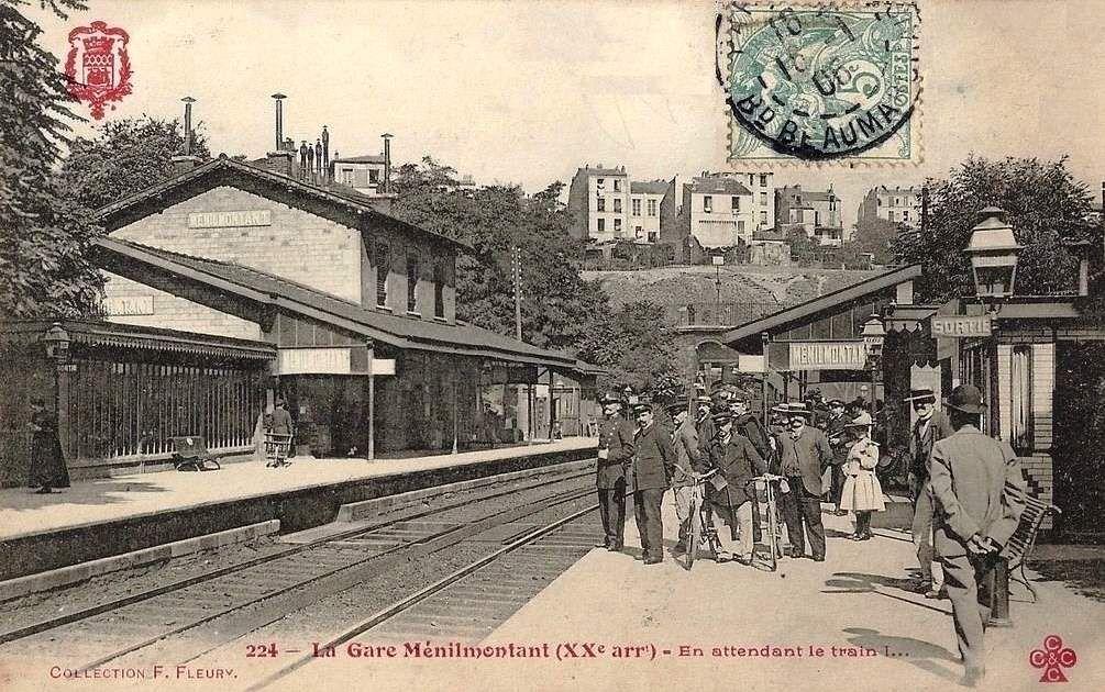CP petite ceinture locomotive vapeur  à la station Mesnil-montant (3)