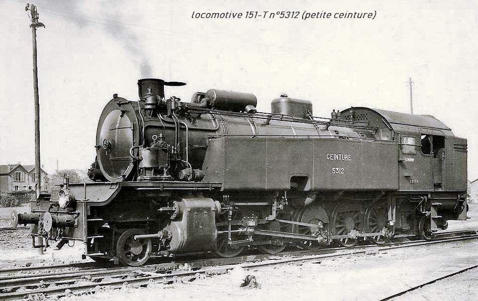 CP locomotive 151 n°5312 (petite ceinture)