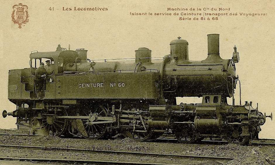CP locomotive 230 n°58 (petite ceinture)