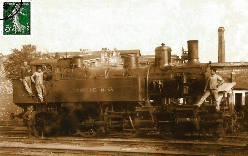 CP locomotive 230 n°55 (petite ceinture)