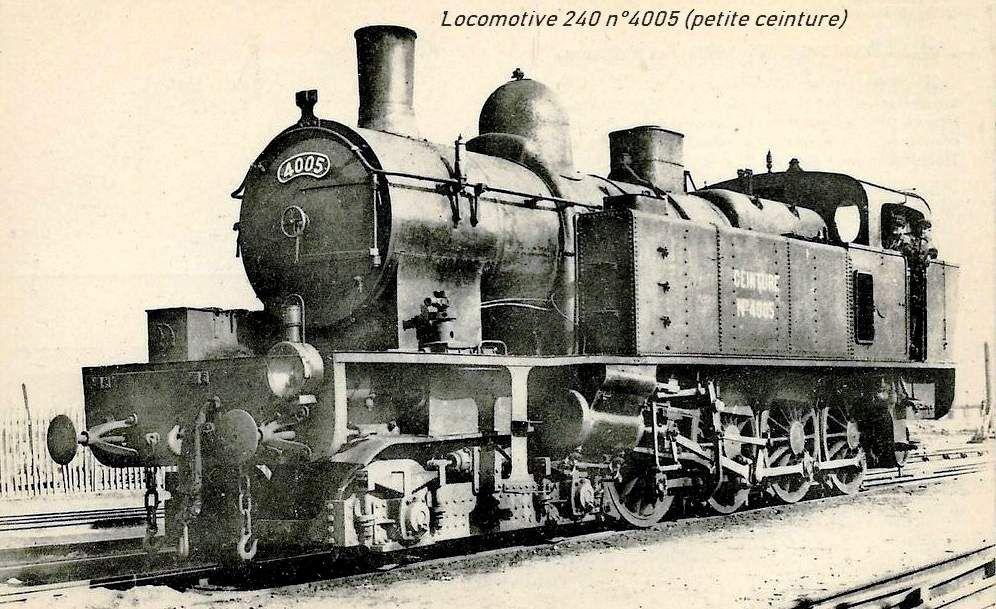 CP locomotive 240 n°4005 (petite ceinture)