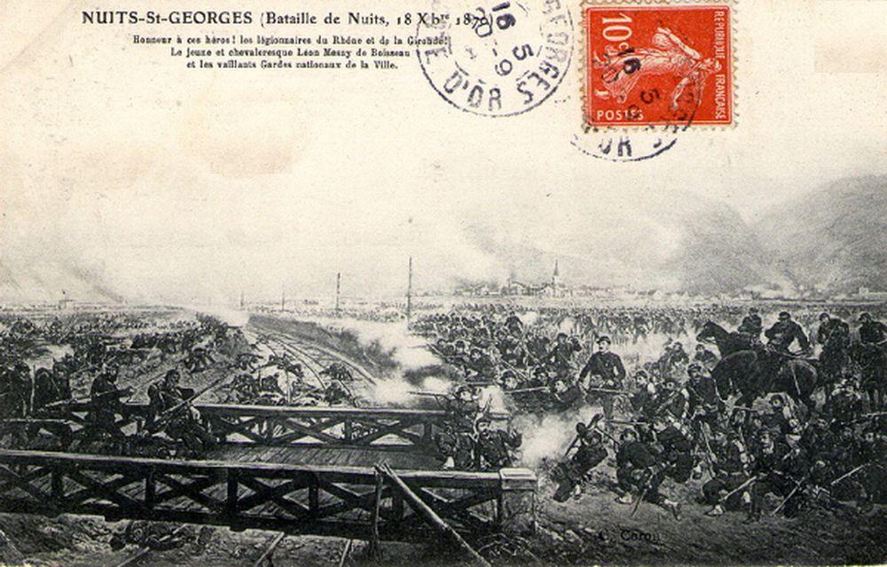 Pont de chemin de fer et Bataille de Nuits St Georges en 1870