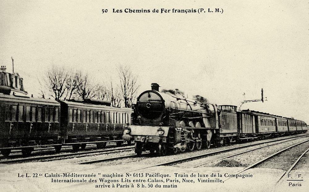 Le train n°22 du PLM ligne Paris à Vintimille (1)
