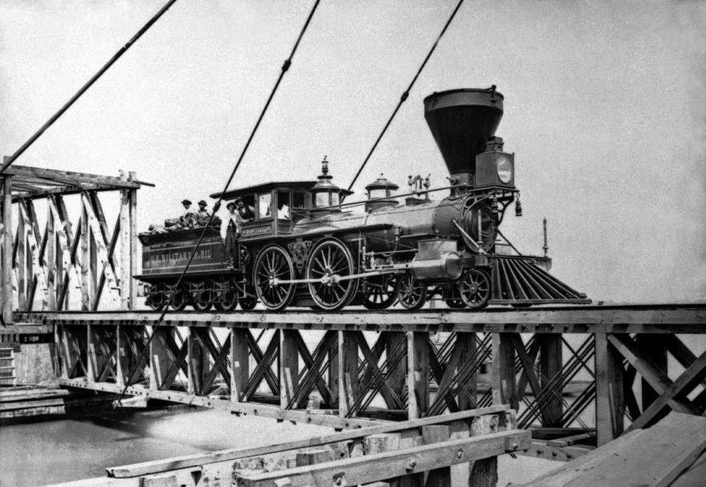 Ancienne locomotive US