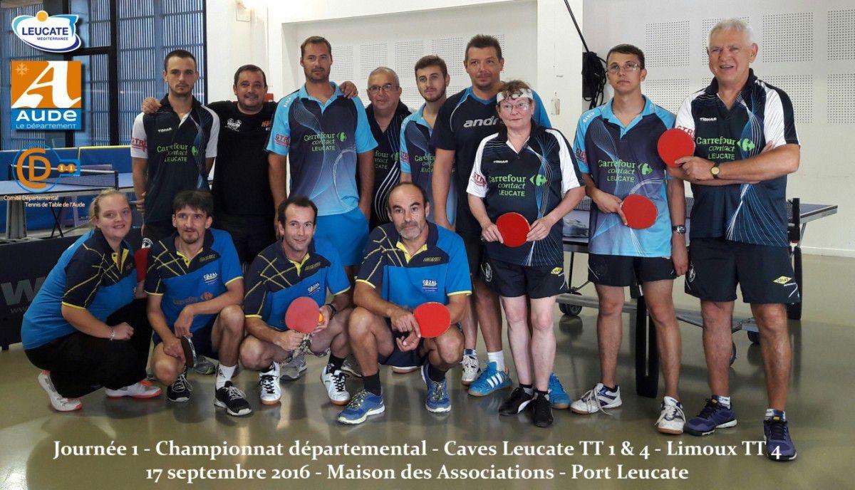 Journée 1 - Championnat départemental - 17/09/2016