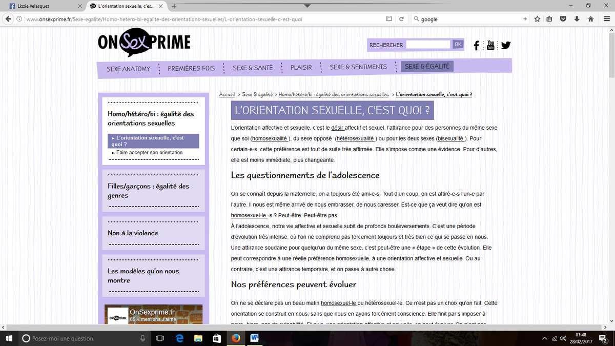 le site du ministère de la santé qui explique à votre ado comment s'y prendre pour pratiquer la sodomie...
