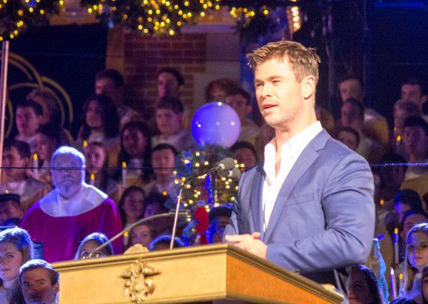 cette année, c'est l'acteur Chris Hemsworth qui a lu un extrait de l'Evangile de Luc