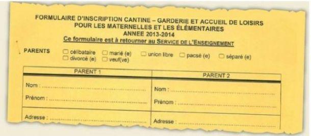 La non référence au sexe des parents existe déjà depuis plusieurs années dans certains formulaires scolaires et périscolaires. (photo : DR)