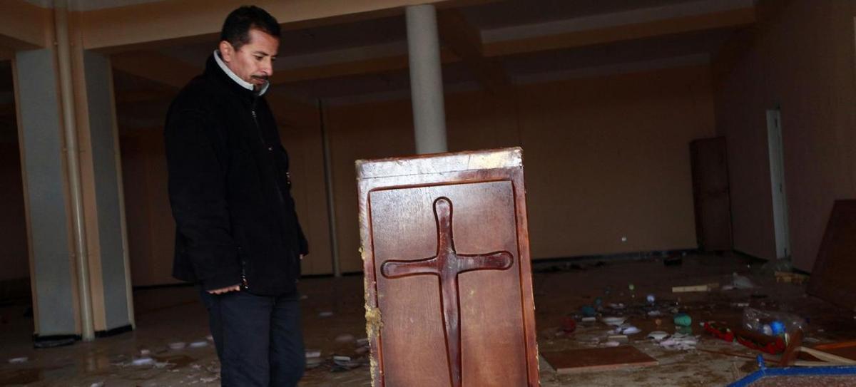 Dans une église protestante à Tizi-Ouzou à 40km d'Alger. En 2010, des saccages de lieux de cultes chrétiens étaient déjà constatés. (photo : Louafi Larbi/REUTERS)