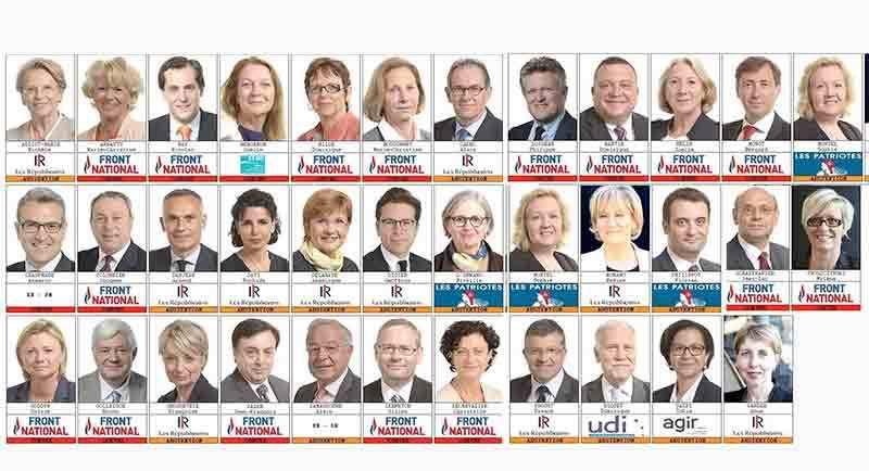 Les députés européens français qui ont voté contre. 6 d'entre eux ont toutefois changé leur vote...