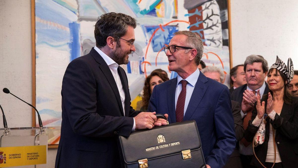 Jose Guirao prenant ses fonctions au ministère de la culture espagnol. (photo : Rodrigo Jimenez/EFE)