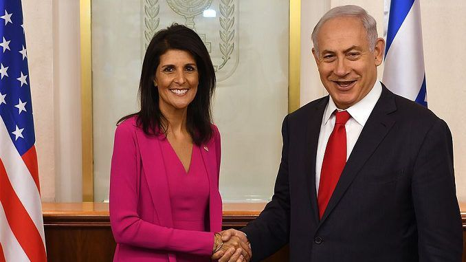 Nikki Haley avec le premier ministre israélien Benjamin Netanyahu. (Photo : ambassade des États-Unis/Israel)