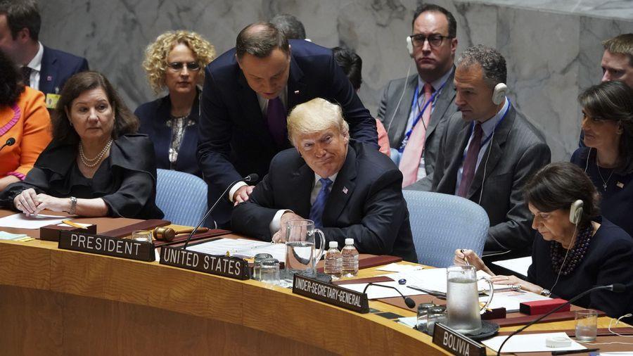 Donald Trump lors de la séance du Conseil de sécurité de l'ONU. [Don EMMERT - AFP]