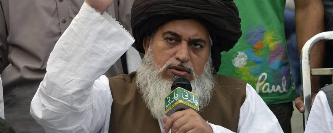 Khadim Hussain Rizvi, leader de la contestation contre Asia Bibi, a été interpellé. (photo : ARIF ALI / AFP/Archives)