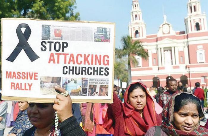 Depuis l'arrivée du BJP (parti national hindou) au pouvoir en 2014, les persécutions se sont aggravées sévèrement contre les chrétiens. (photo : AFP)