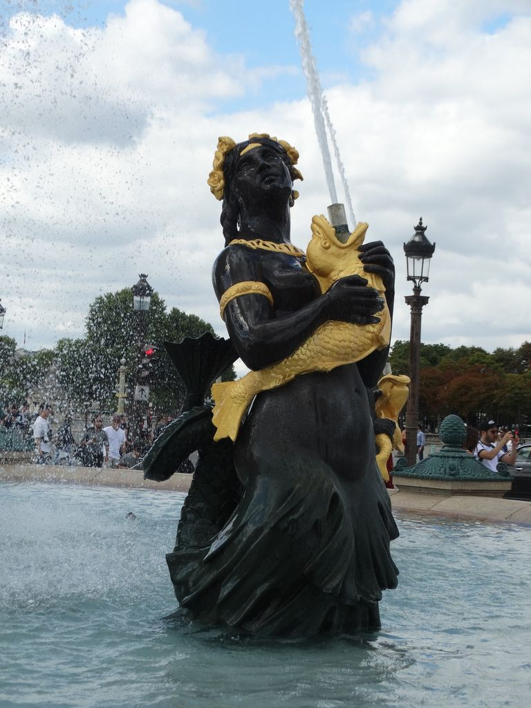 Paris, Place de la Concorde – Les fontaines