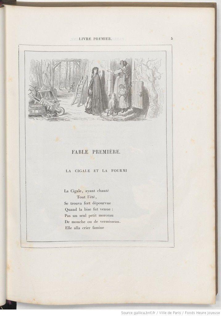 Fables de La Fontaine, avec les dessins de Gustave Doré - (1832-1883) - Éditeur :     L. Hachette (Paris - 1868) - Source gallica.bnf.fr / Bibliothèque nationale de France