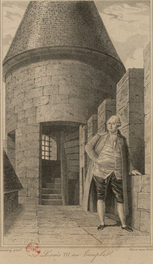 Louis XVI au Temple – estampe - Source gallica.bnf.fr / Bibliothèque nationale de France