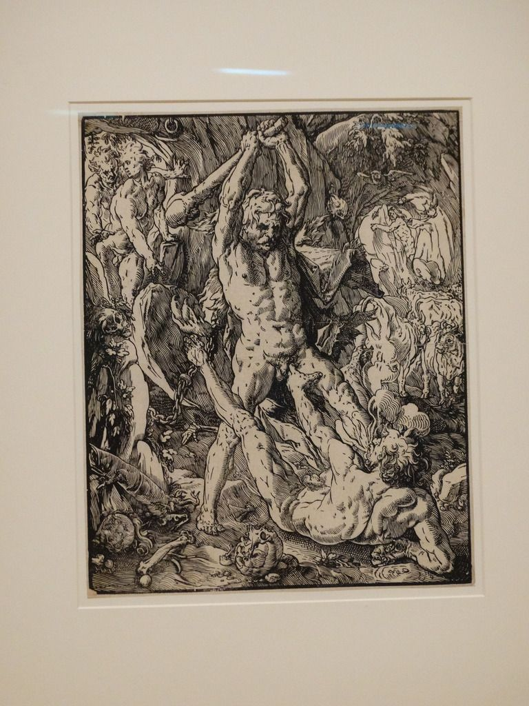 Hendrick Goltzius (1558 – 1617) – Hercule tuant Cacus (1588)  – gravure sur bois - Fondation Custodia collection Frits Lugt, Paris, France