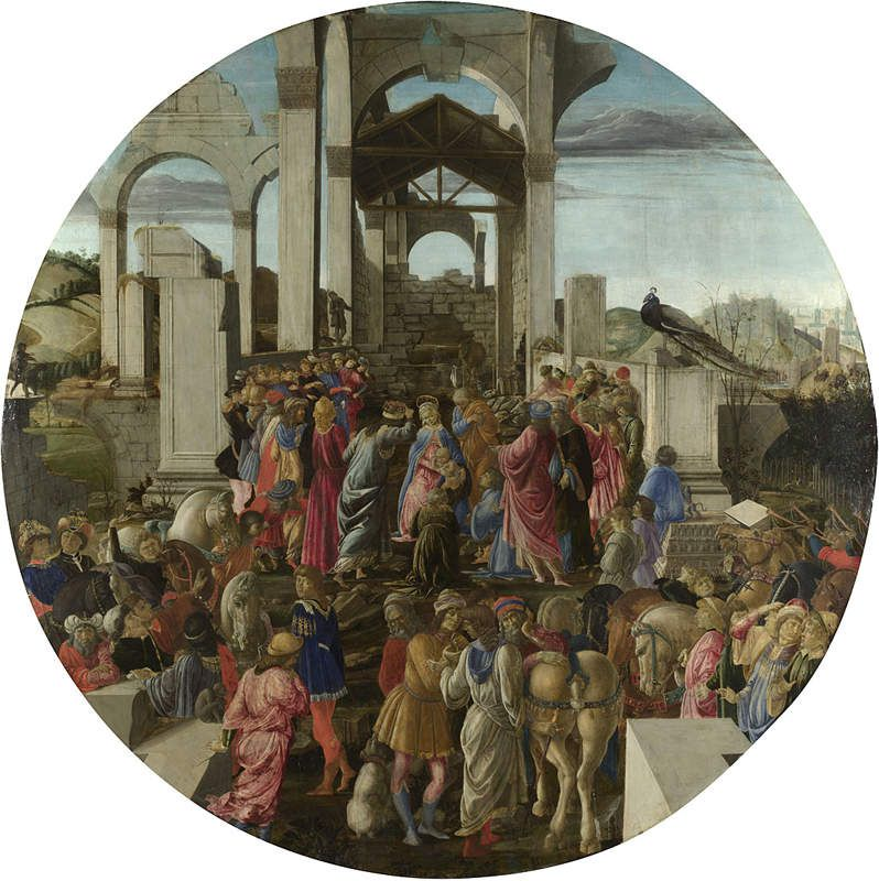 Alessandro di Mariano di Vanni Filipepi, dit Sandro Botticelli (1445 – 1510) - The Adoration of the Kings (vers 1470) – National Gallery, Londres, Angleterre