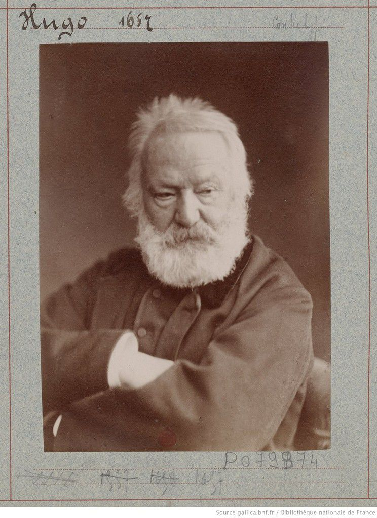 Victor Hugo (1802 – 1885) - Atelier Nadar - photographie, tirage de démonstration - Source : gallica.bnf.fr / Bibliothèque nationale de France