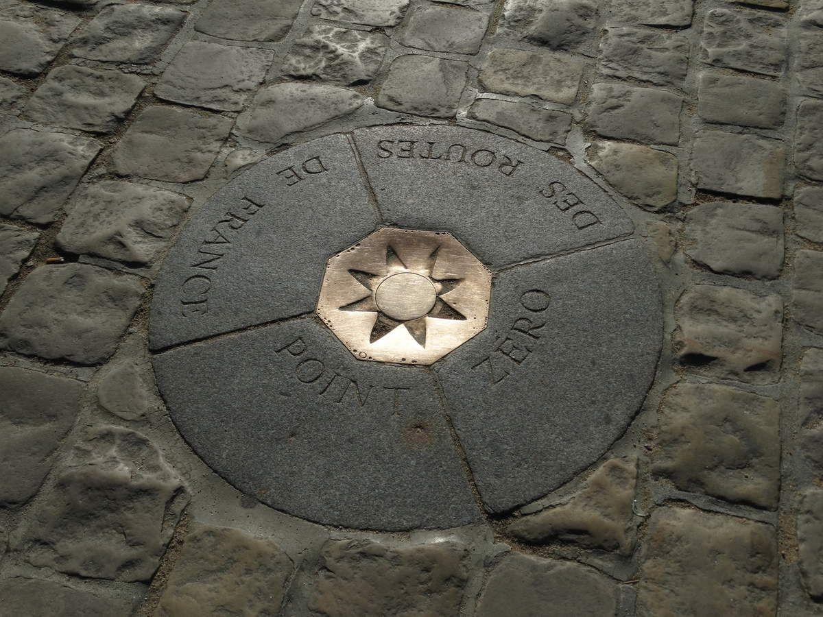 Point Kilométrique 0 – Parvis de la cathédrale Notre-Dame de Paris