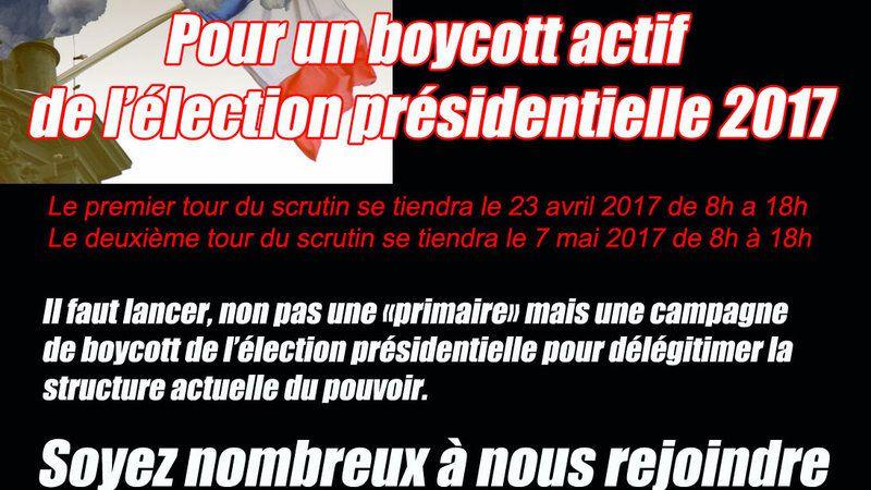 [Pétition] Pour un boycott actif de l'élection présidentielle 2017
