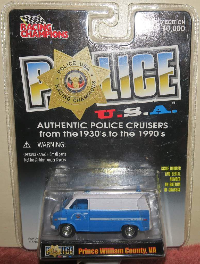 Fourgon 1975 Chevy Van Police Prince William County