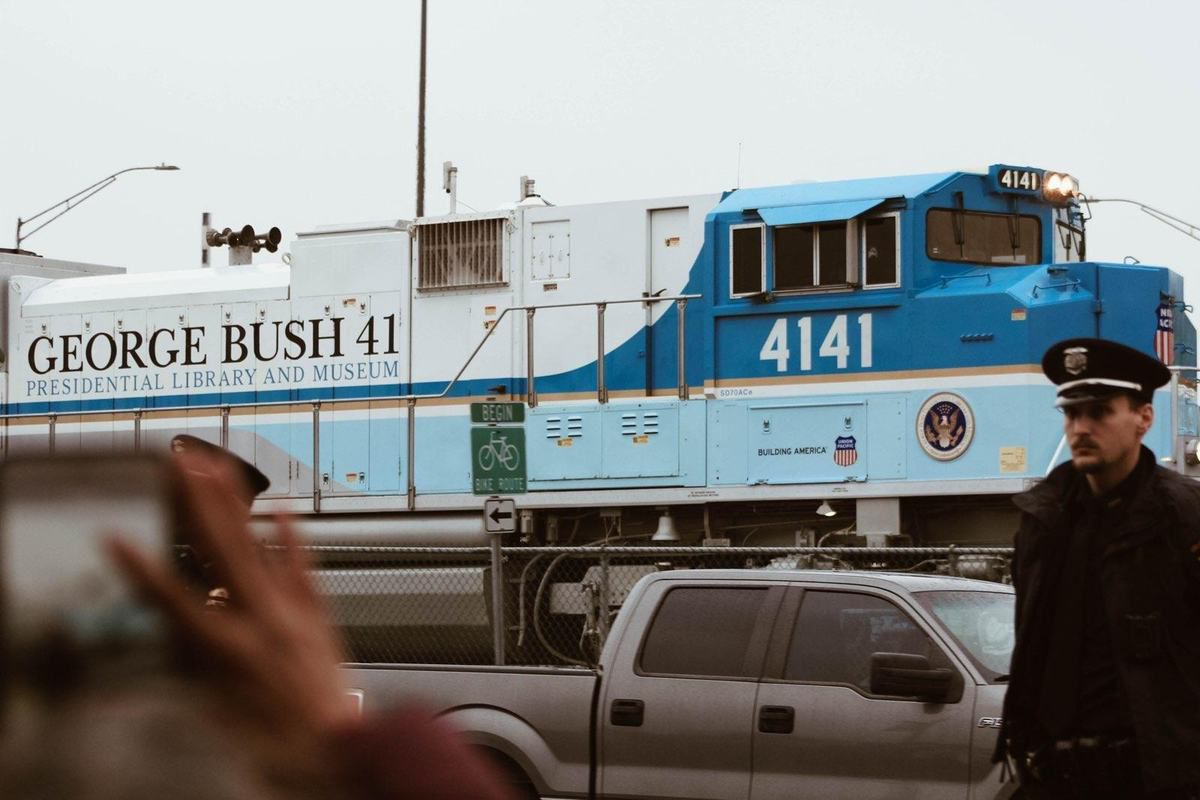 Le train funéraire George Bush