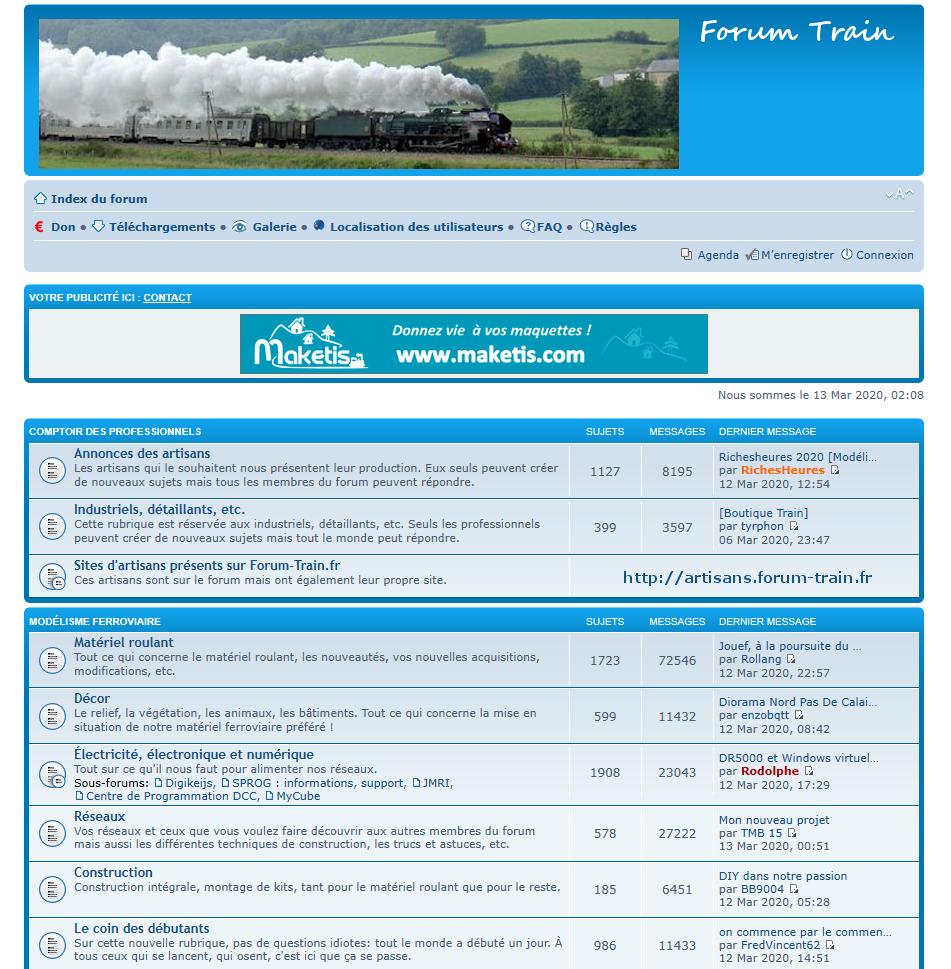 Où discuter trains miniatures en 2020