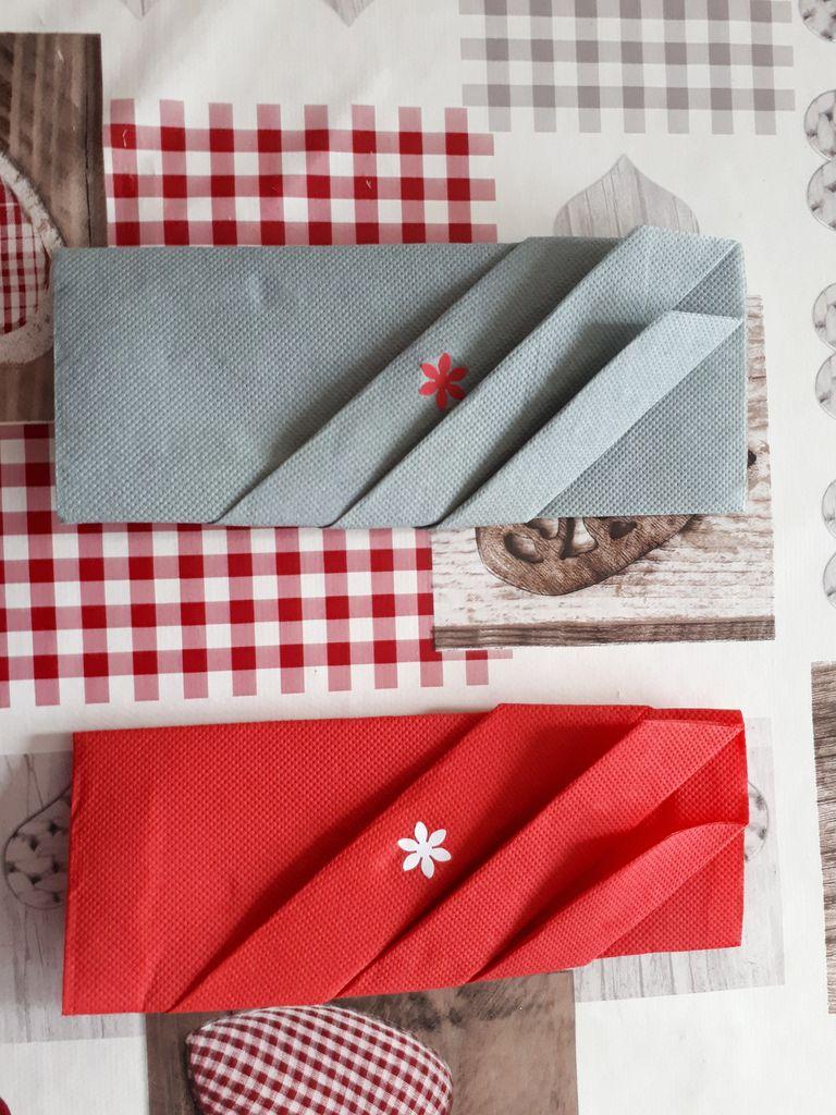 Pliage Serviette Papier Avec Couverts pliage serviette range couvert - chez nounoute & cies