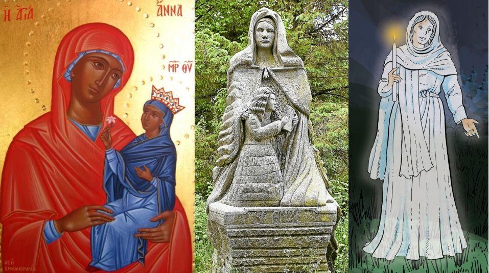 Sainte Anne : trois en une
