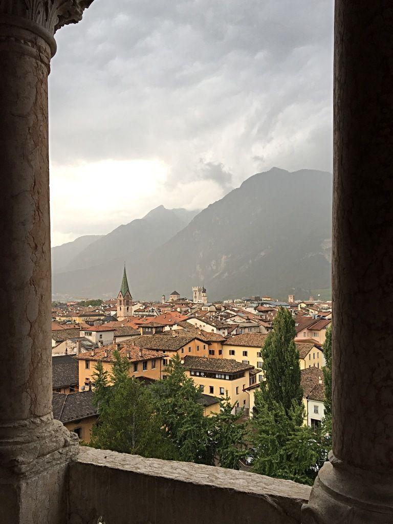 Trento sous la pluie