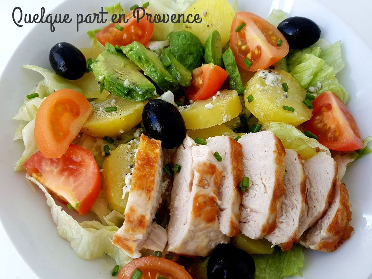 SALADE COMPOSEE SAUCE ROQUEFORT