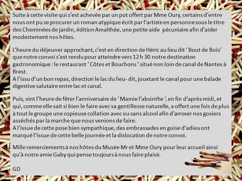 Découverte du musée des allumettes à Treillières le dimanche 17 février 2019.