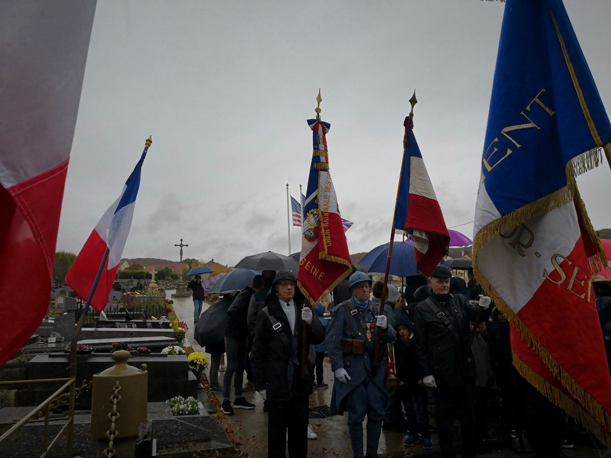 Cérémonie du 11 novembre 2018 à Triel sur Seine.
