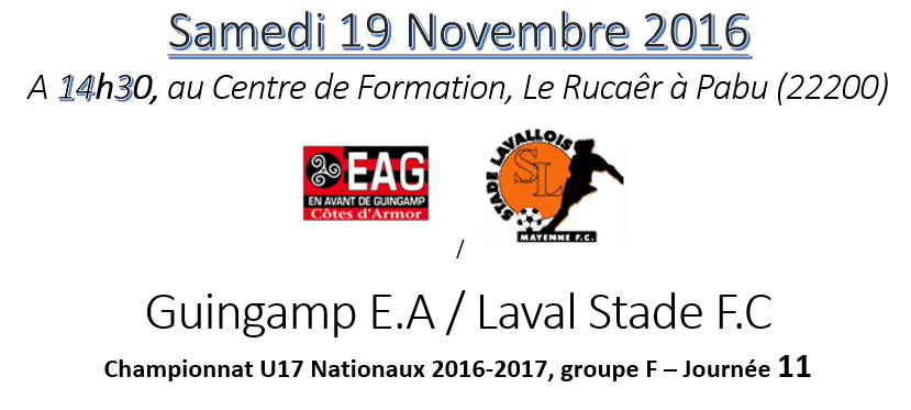 EAG_U17Nat_Réception de Laval