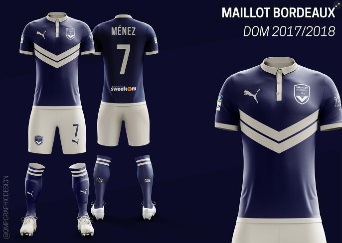 maillot bordeaux girondins 2017 2018