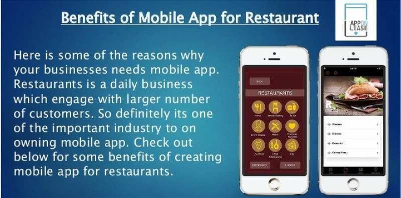 Benefits of Mobile App for Restaurants