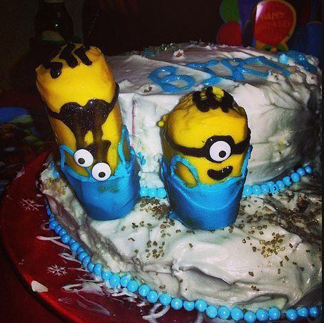 Gâteau Minion raté