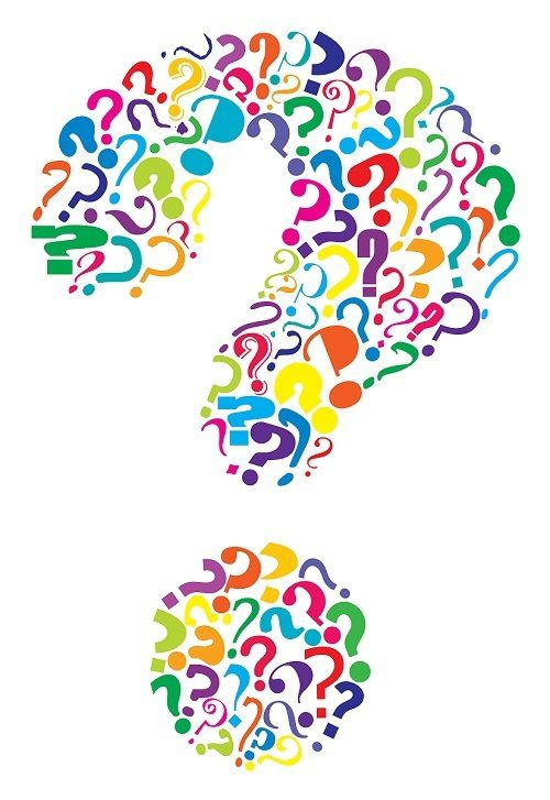Editable vector question mark formed from many question marks