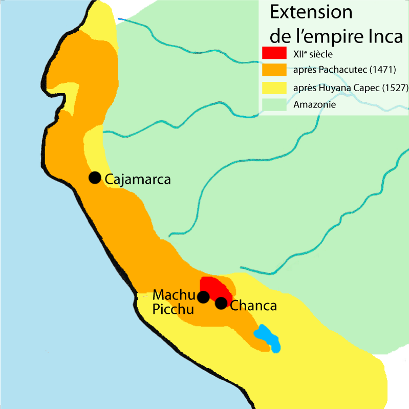 Carte de l'expansion de l'Empire Inca