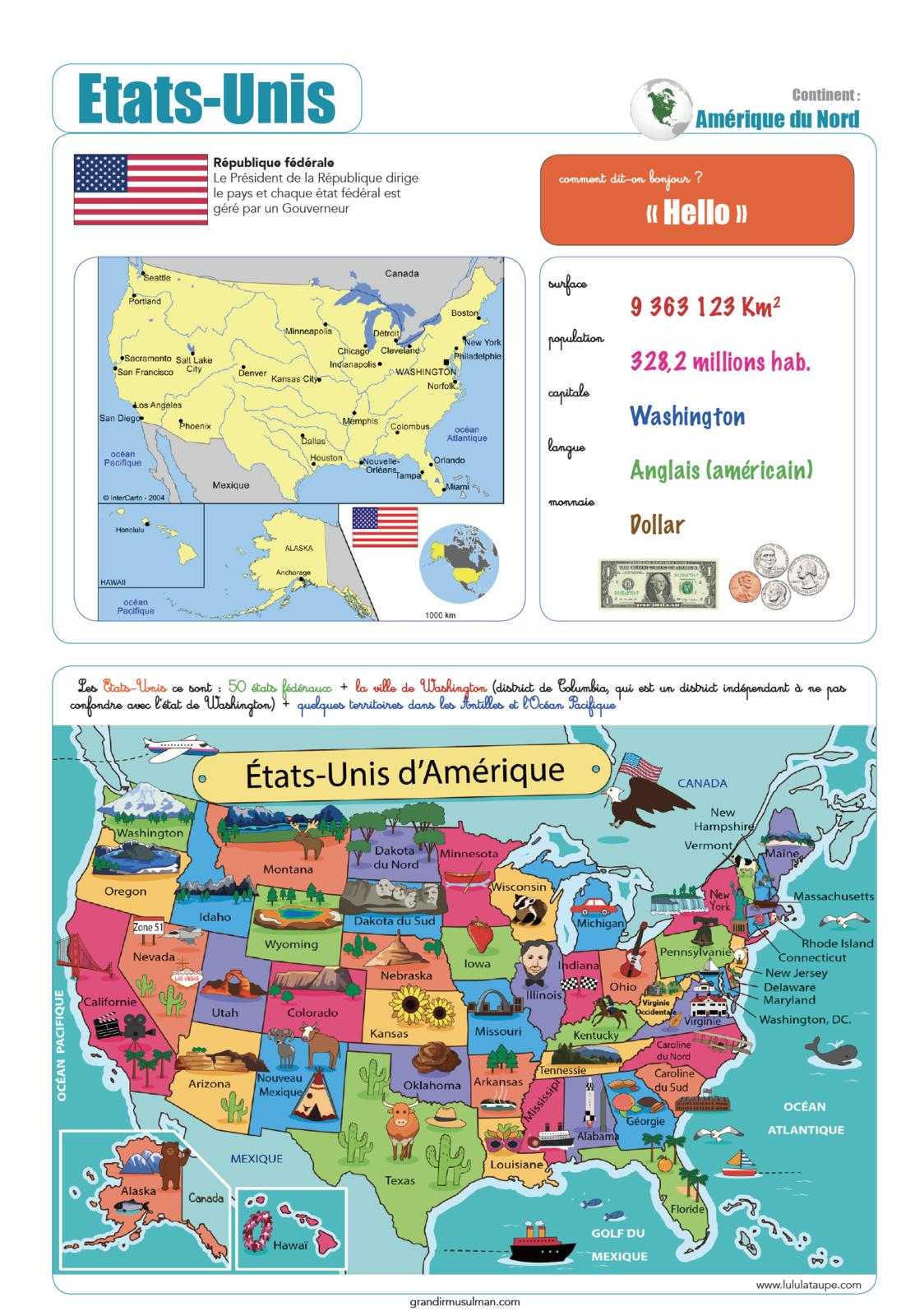 Notre tour du monde : Etats-Unis